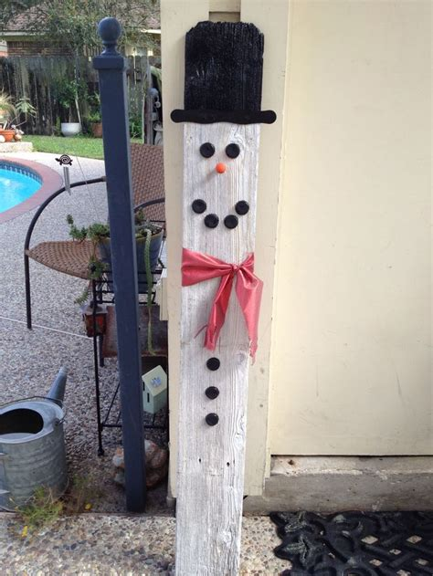 fence board snowman crafts fence boards pinterest