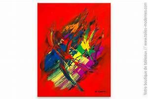 Tableau Moderne Coloré : tableau abstrait r ve color ~ Teatrodelosmanantiales.com Idées de Décoration