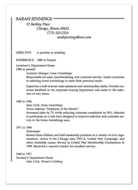 Resume For Homemaker by Exle Of Homemaker Resume Http Exleresumecv Org Exle Of Homemaker Resume Exle