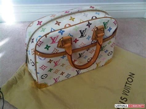 authentic louis vuitton white multicolor trouville bag lovebags listall