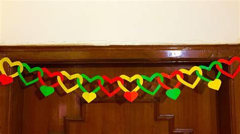 paper heart door decor diy door hanging decoration