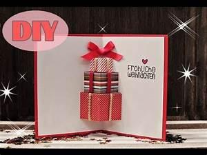 Weihnachtsgeschenke Selbst Basteln : weihnachtskarten selber basteln 7 weihnachtsgeschenke christmas card diy youtube ~ Eleganceandgraceweddings.com Haus und Dekorationen