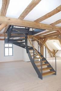 Stahltreppe Mit Holzstufen : stahl holz treppen tischlerei burkhard schulze ~ Michelbontemps.com Haus und Dekorationen