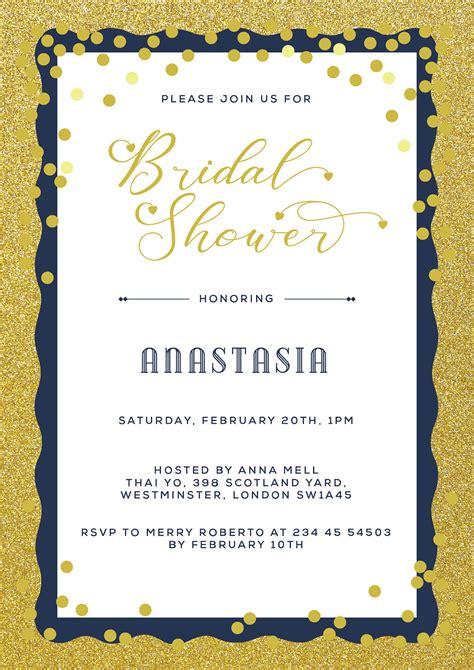 bridal shower invitation flyer printable design