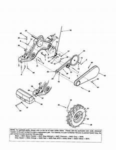 Wheel  Rim  Belt Diagram  U0026 Parts List For Model 450 Mtd