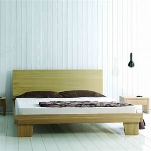 Lit En Bois Massif : lit adulte avec sommier en bois massif brin d 39 ouest ~ Teatrodelosmanantiales.com Idées de Décoration