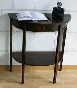 Beistelltisch Holz Massiv : massivholz konsolentisch telefontisch wandkonsole halbrund holz massiv kolonial ~ Udekor.club Haus und Dekorationen