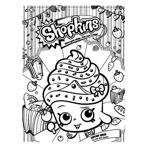 Shopkins: Coloring Pages & Books 100% FREE and printable