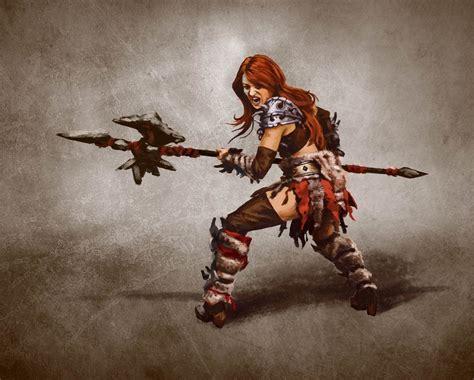barbarian image  alis yayolu  diablo iii concept art