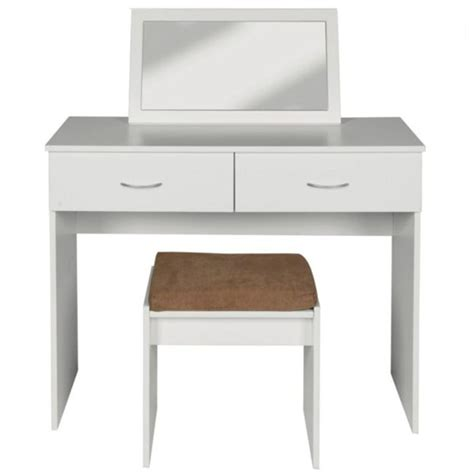 cheap vanity dressing table impressions dressing table stool and mirror from argos
