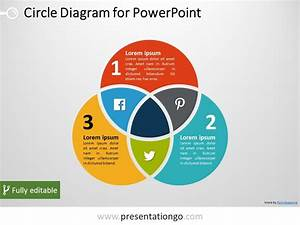 3-circle Venn Powerpoint Diagram
