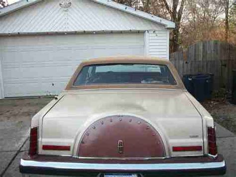 how cars engines work 1992 lincoln continental mark vii instrument cluster find used 1980 lincoln continental mark vi in clio michigan united states