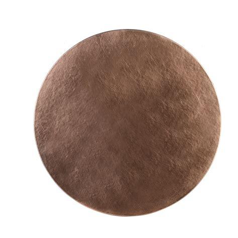 inspire hyas luxury  metallic placemats cm faux leather copper set