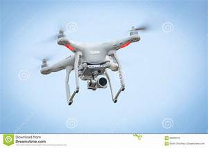 Flying Drone With Camera Stock Photo - Image: 60986412