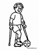 Coloring Pages Needs Disabilities Special Printable Children Worksheets Crutches Disability Activities Colouring Blind Colormegood Sports Crafts Student Playing Paper Specialneeds sketch template