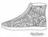 Coloring Shoe Pages Shoes Doodles Birds Adult Sheets Adults Kendra Doodle Colouring Printable Template Animal Books Shedenhelm Bird Basketball Instagram sketch template