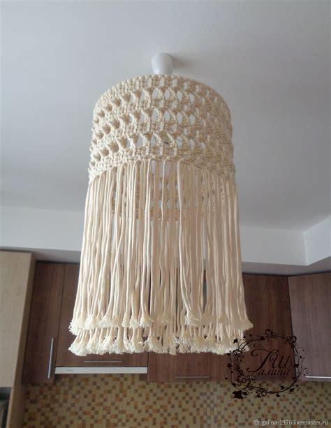 macrame lampshade zakazat na yarmarke masterov