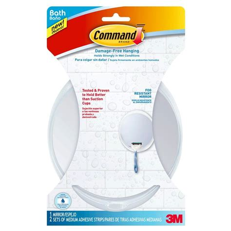 command fog resistant mirror with water resistant strips