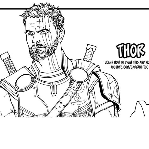 avengers thor coloring pages superheroes stitch free