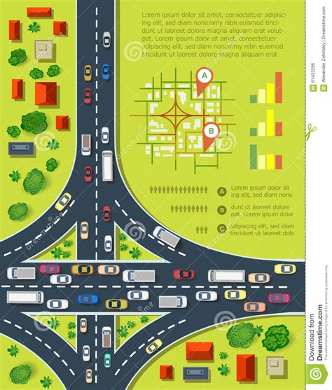 road infographics stock vector image