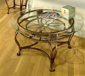 Glass round coffee table for Circular glass top coffee table