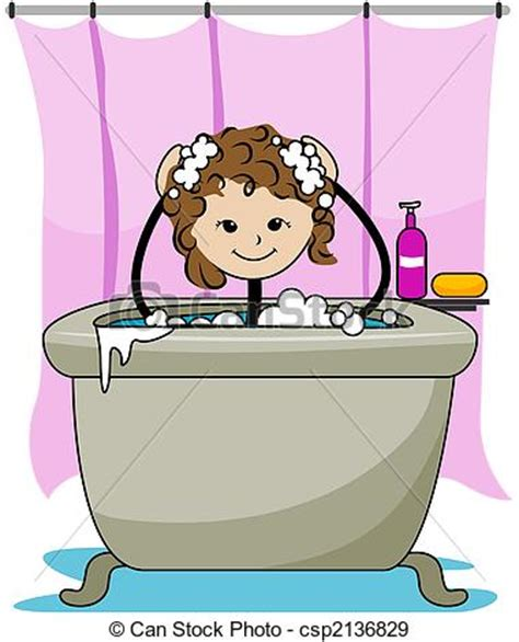 siege baignoire bebe illustration de bain gosse bath kid csp2136829