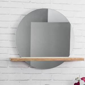 miroir bologne de salle de bain rond en teck massif With miroir teck salle de bain