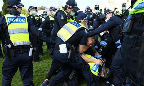 Coronavirus: Arrests at Australia anti-lockdown protests ...