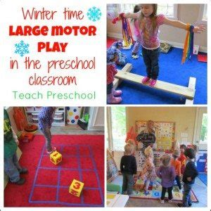 winter time large motor play for the preschool classroom 360 | Winter time large motor play by Teach Preschool 300x300