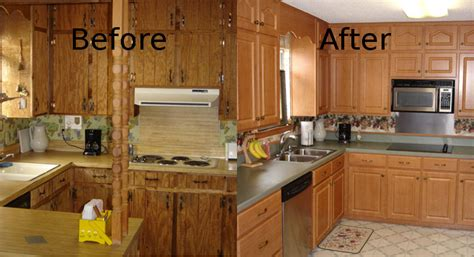 before and after pictures of kitchen cabinets painted cabinet refacing pensacola kitchen cabinet restoration 9889