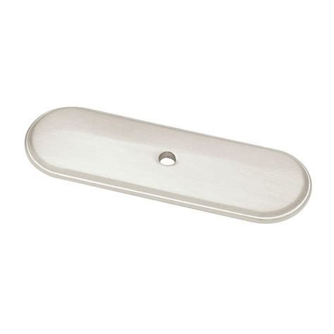 Cabinet Hardware Backplates Home Depot by Liberty 3 In Satin Nickel Raised Oval Cabinet Knob