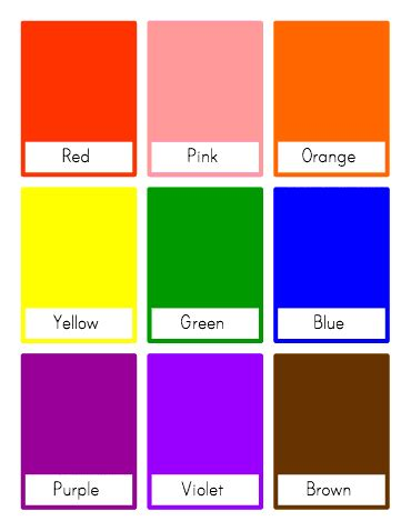 Customizable And Printable Color Flash Cards  Toddler Class  Pinterest Classroom