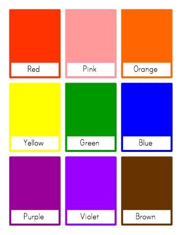 Customizable And Printable Color Flash Cards  Toddler Class  Pinterest  Classroom Organization