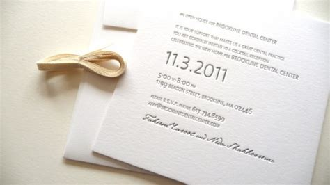 modern open house invitations  studio carta albertine