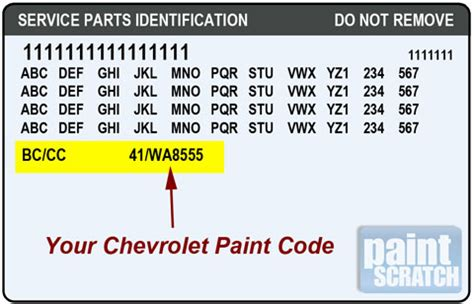 where are paint codes located on a 2014 malibu autos post
