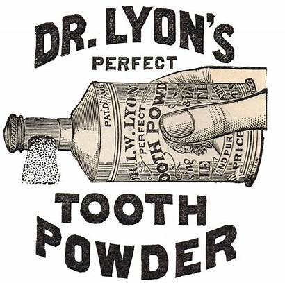 Antique Clip Tooth Powder Graphics Advertisement Dr