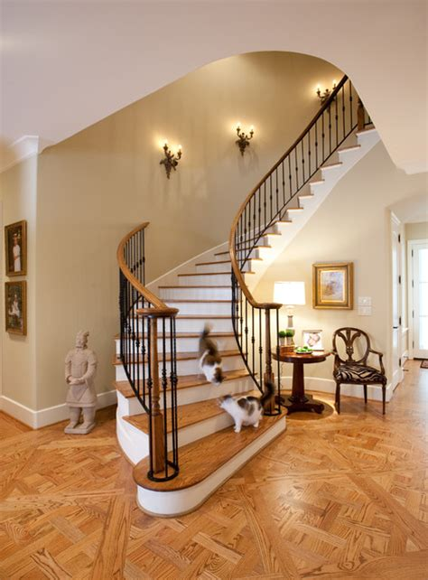 french country traditional staircase houston