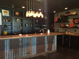 Man Cave - Industrial - Home Bar - portland - by Monica