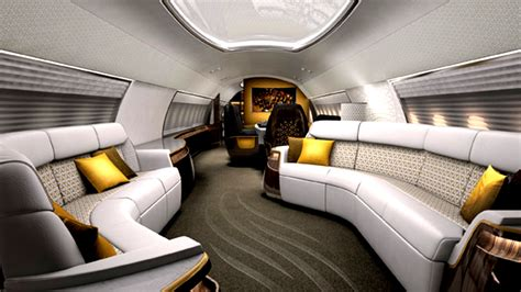 Interior Aircraft Design by Business Jet Interiors Mega Engineering Vehicle