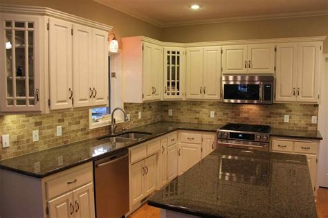 kitchen cabinets with light countertops light granite countertops with white cabinets hardwood 9536