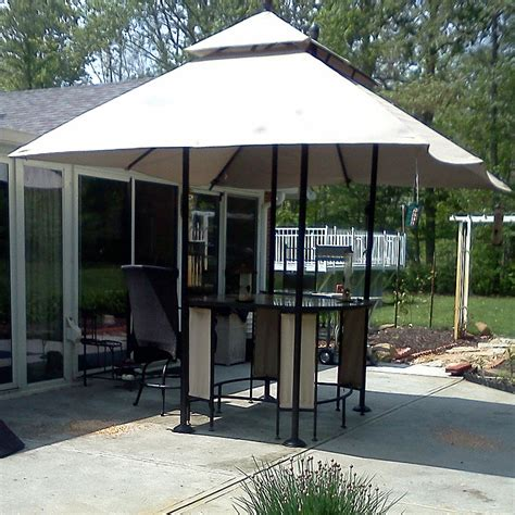 garden treasures lowes bar table gazebo replacement canopy
