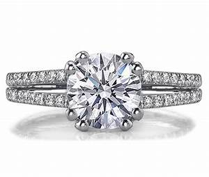 Unique double band engagement rings for Double band diamond wedding ring