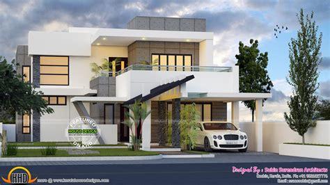 4 bedroom modern contemporary home - Kerala home design
