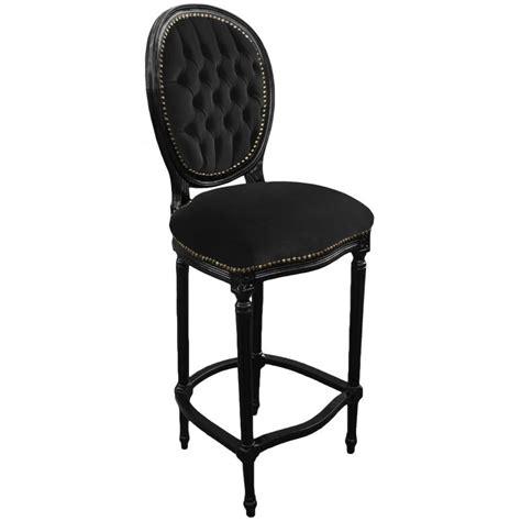 chaise de bar noir chaise de bar de style louis xvi avec tissu velours noir