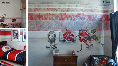 chambre canadien décoration chambre hockey canadien