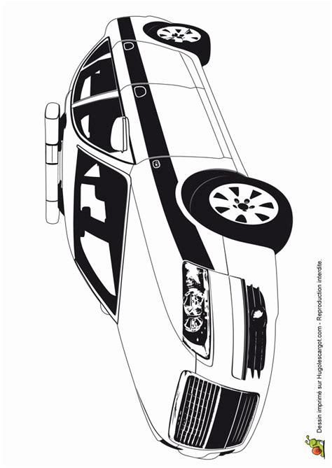 dessin  colorier voiture police gratuit