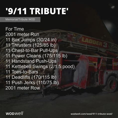 tribute 911 wod september memorial fire square wodwell