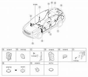 2017 Kia Forte Wiring Harness-floor