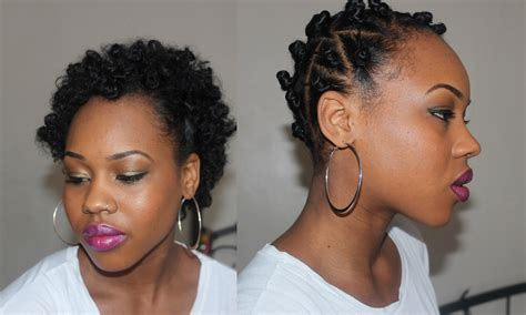Bantu Knot Out On Short Natural Hair