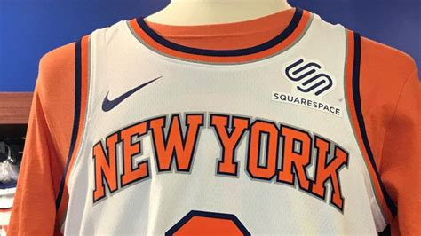 knicks add squarespace  teams  jersey sponsor